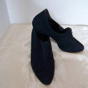 Shoes - BLUE Zip Block Heel Booties